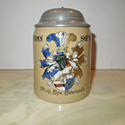 Early 1900's Mettlach Student Society Stein