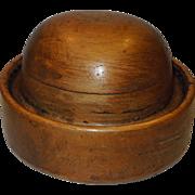Vintage Wooden Hat Block Mold
