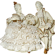 Dresden Lace Germany Figurine Couple - Red Tag Sale Item