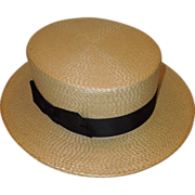 Vintage Boater Hat by Yacht Brand