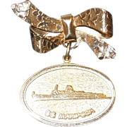 S.S. Mariposa Souvenir Brooch 1950's-60's