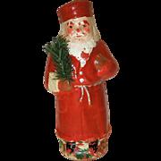 German Belsnickle Santa Papier Mache Candy Container