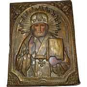 19th Century Russian Icon St. Nicholas