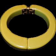 Vintage Bakelite Clamper Hinged Bracelet