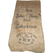 Vintage European Feed/Grain Sack 1934