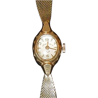Vintage Andre Bouchard 14K Gold Ladies Watch Working