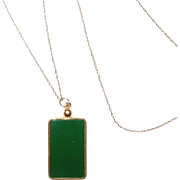 Vintage 14K and Jadeite Jade Necklace