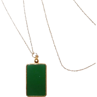 Vintage 14K and Jadeite Jade Necklace