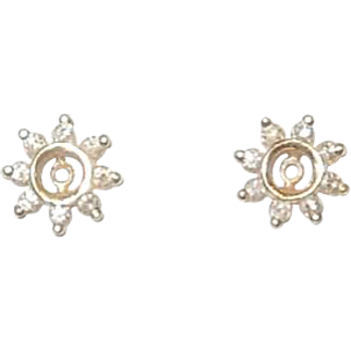 14K and Diamond Earring Jackets