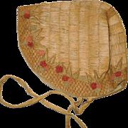 c. 1880's Victorian Straw Bonnet