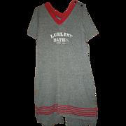 Ultra Rare Lurline Baths Wool Bathing Suit C. 1900