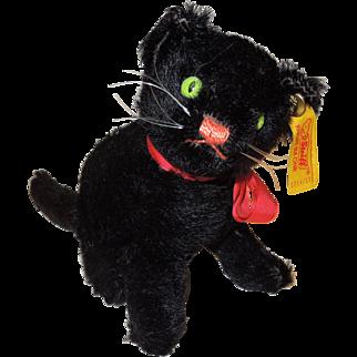 1990 Steiff Sitting Black Kitty