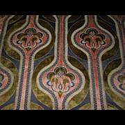 1890's Art Nouveau Heavy Brocade Curtain Panel - Red Tag Sale Item