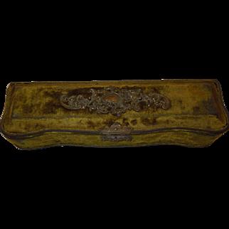 1890's Victorian Velvet Dresser Box