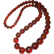 Vintage Baltic Amber Bead Necklace