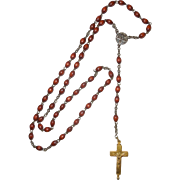 1800's Seed Rosary with Reliquary