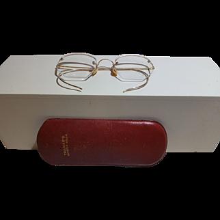 Vintage Rimless Eyeglasses Spectacles 10K GF Beverly Hills