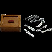 Vintage Barton Golden Maple Cutlery Silverware Box w/ Utensils