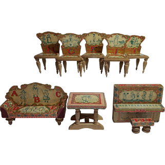 Bliss Litho Dollhouse Living Room Suite- 9 Pieces