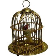 "Erhard & Söhne Ormolu Dollhouse Doll House Bird Cage Birdcage, 2 3/4"" Tall"