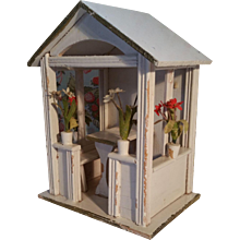 Rare Gottschalk German Dollhouse Garden House Gazebo