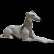 Fine German Porcelain Dollhouse Size Greyhound Figurine
