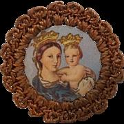 Miniature Portrait of Mary and Jesus, Memorial of Pope Benedict XV c. 1915