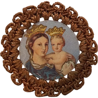 Miniature Portrait of Mary and Jesus, Memorial of Pope Benedict XV c. 1915