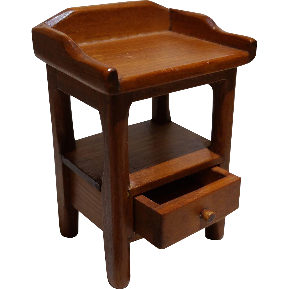 Dollhouse furniture marked toncoss side table with drawer for C table with drawer