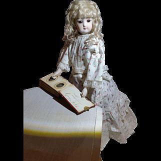 1860s Miniature Leather Bound Tintype Album Fashion Doll Accessory