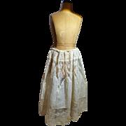 Antique Cotton Lawn Doll Slip With Exquisite Lacework