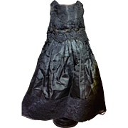 Elegant Civil War Era Doll's Mourning Dress