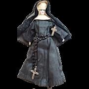"8 1/2"" China Head Doll Dressed As An Ursuline Nun, TLC"
