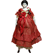 "9"" China Doll Dressed For The Holidays In Her A/O Red Outfit"