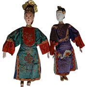 Excellent Pair of Chinese Opera Dolls