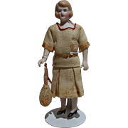 """Great Dollhouse Doll 4 3/4"""" Tennis Tournament Director Costume"""