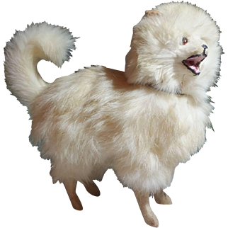 Large Spitz or Husky Dog Candy Container Fashion Doll Accessory