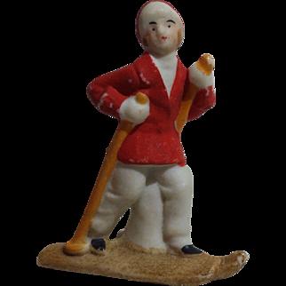 German Skier Snowbaby Figurine