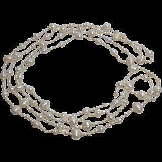 "Australian Freshwater Pearl Necklace, 68"""