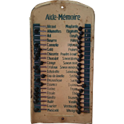 """Shabby Vintage Tin French """"Aide-Memoire"""" Hanging Kitchen Shopping List"""