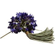 Bouquet Of Vintage Violets Milliner Flowers- 70 Stems