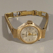 Sekonda Ladies 9k Yellow Gold Vintage USSR Wristwatch