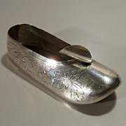 Chinese Zee Sung Silver Shoe Shaped Ashtray