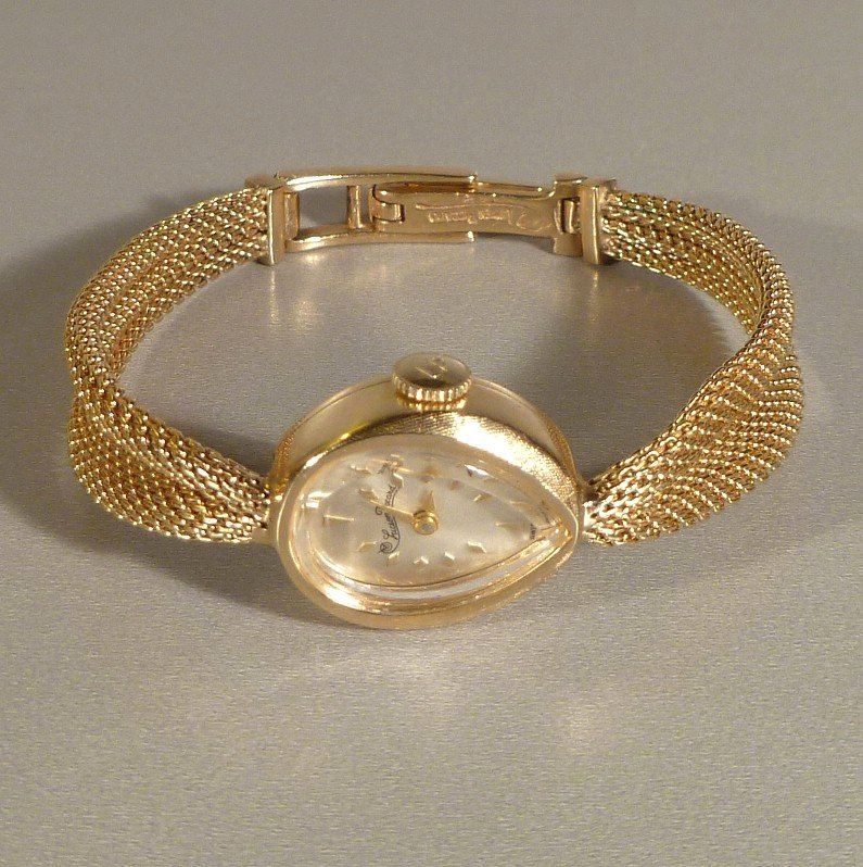 Lucien Piccard 14k Yellow Gold Ladies Watch And Band From