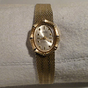 Gruen 14K Gold Ladies Watch - Kestenmade Mesh Band