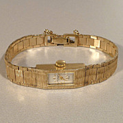 Jules Jurgensen 14k Gold Ladies Wrist Watch
