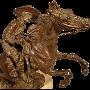 Vienna Bronze Vaquero On Horseback - Geschutzt 4472 - Austria