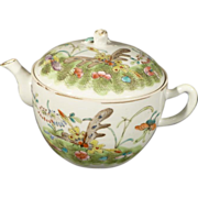Chinese Porcelain Teapot - Polychrome Enamel Glaze with Butterflies