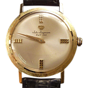Jules Jurgensen Man's 14k Gold Wrist Watch