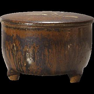 Joel Edwards Mid Century Lidded Stoneware Container - ca 1960s